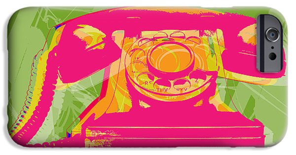 Pop iPhone Cases - Rotary phone iPhone Case by Jean luc Comperat