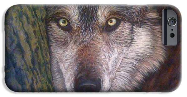 Pollock Pastels iPhone Cases - Rotary Wolf 2012 iPhone Case by Frankie Paquin