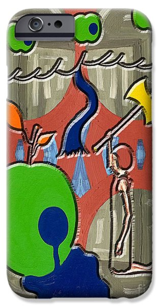 Tree Art Print Mixed Media iPhone Cases - Rotten Tree Rotten Fruit iPhone Case by Patrick J Murphy