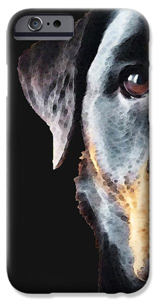 Rottie Love - Rottweiler Art By Sharon Cummings iPhone Case by Sharon Cummings