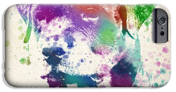 Canine Digital iPhone Cases - Rottweiler Splash iPhone Case by Aged Pixel