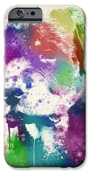 Rottweiler Splash iPhone Case by Aged Pixel