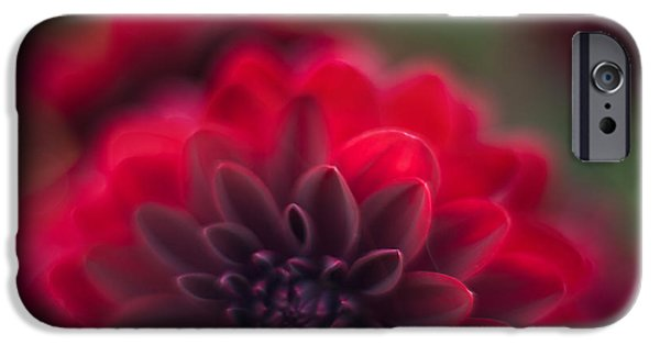 Poetic Photographs iPhone Cases - Rouge Dahlia iPhone Case by Mike Reid