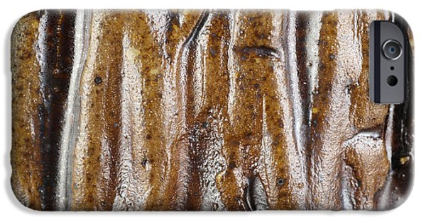 Texture Ceramics iPhone Cases - Rough abstract ceramic surface iPhone Case by Kerstin Ivarsson