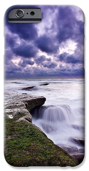 Waterscape iPhone Cases - Rough sea iPhone Case by Jorge Maia