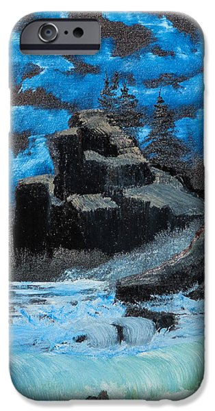Pines iPhone Cases - Rough Seas iPhone Case by Dave Atkins