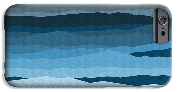 Beach At Night iPhone Cases - Rough Seas iPhone Case by Val Arie