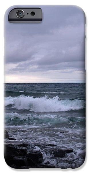 Rough Surf at Split Rock iPhone Case by James Peterson