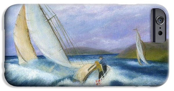 Catherine Howard iPhone Cases - Rough Water Sailing iPhone Case by Catherine Howard