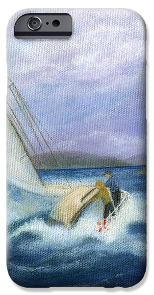 Rough Water Sailing iPhone Case by Catherine Howard