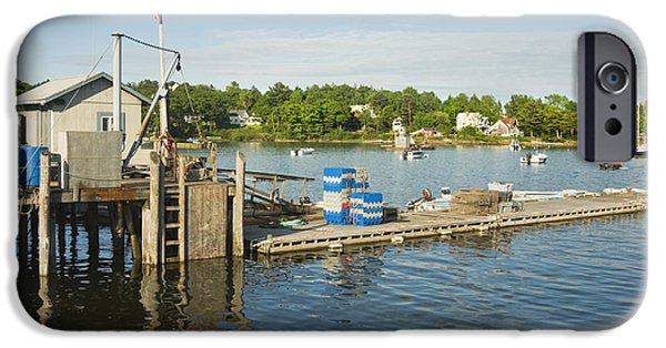Coastal Maine iPhone Cases - Round Pond on The Coast Of Maine iPhone Case by Keith Webber Jr