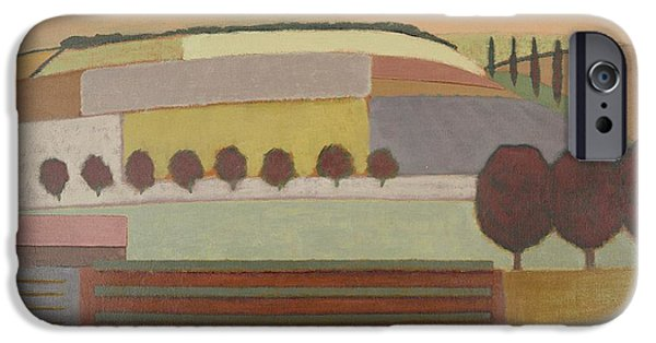Midi iPhone Cases - Roussillon Landscape Oil On Canvas iPhone Case by Eric Hains