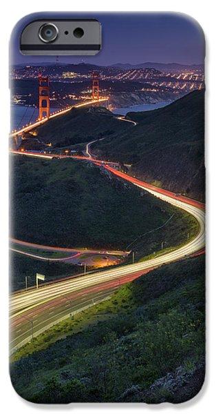 San Francisco Bay Bridge iPhone Cases - Route 101 iPhone Case by Rick Berk