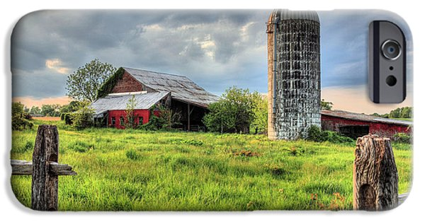 Maryland Barn Photographs iPhone Cases - Route 213 iPhone Case by JC Findley