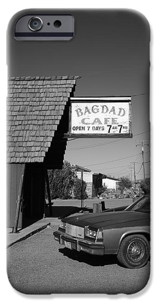 Baghdad Prints iPhone Cases - Route 66 - Bagdad Cafe 6 iPhone Case by Frank Romeo