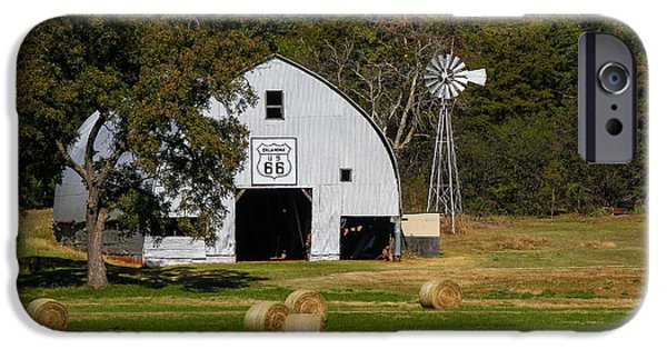 Agricultural iPhone Cases - Route 66 Barn iPhone Case by Doug Long