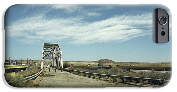 Freedom iPhone Cases - Route 66 Bridge - New Mexico iPhone Case by Frank Romeo