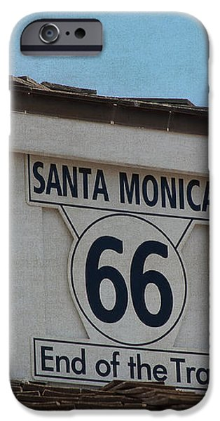 Route 66 - End of the Trail iPhone Case by Kim Hojnacki