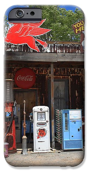 Route 66 - Hackberry General Store iPhone Case by Frank Romeo