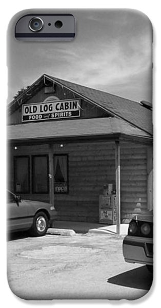 Route 66 - Old Log Cabin iPhone Case by Frank Romeo