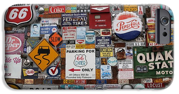 Sign iPhone Cases - Route 66 Signs iPhone Case by Lynn Sprowl