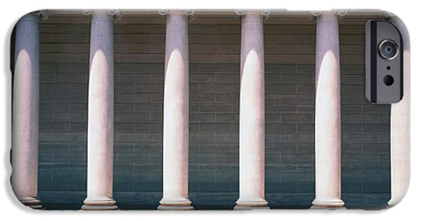 Repetition Photographs iPhone Cases - Row Of Columns San Francisco Ca iPhone Case by Panoramic Images