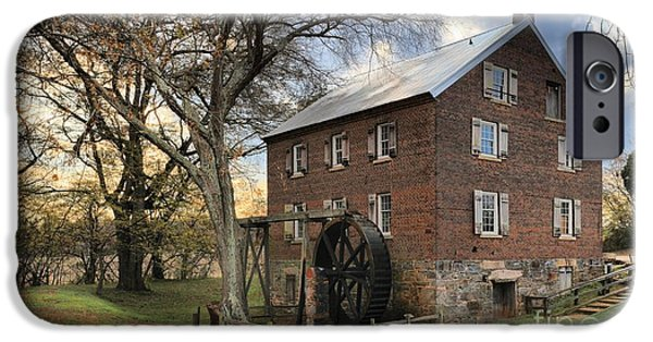Grist Mill iPhone Cases - Rowan County Grist Mill iPhone Case by Adam Jewell