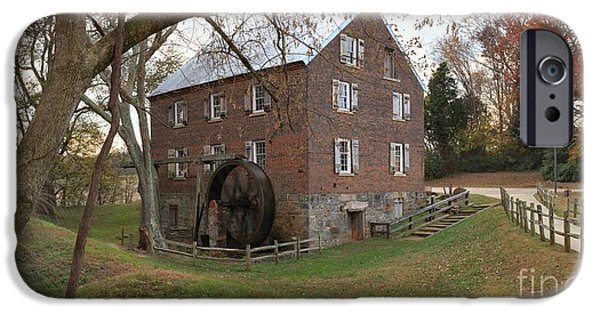 Grist Mill iPhone Cases - Rowan County NC Grist Mill iPhone Case by Adam Jewell