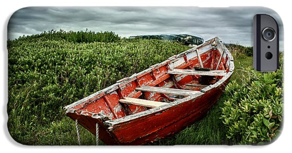 Beach iPhone Cases - Rowboat at Prospect Point #2 iPhone Case by Nikolyn McDonald