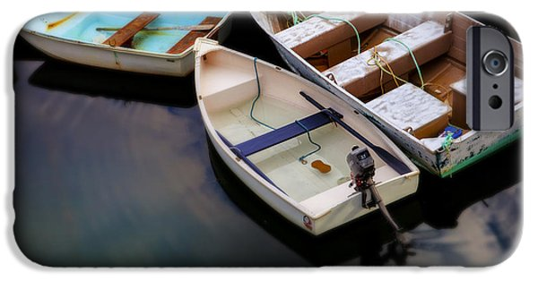 New England Ocean iPhone Cases - Rowboats iPhone Case by Diane Diederich