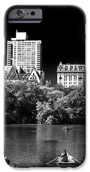 Rowing in Central Park iPhone Case by John Rizzuto