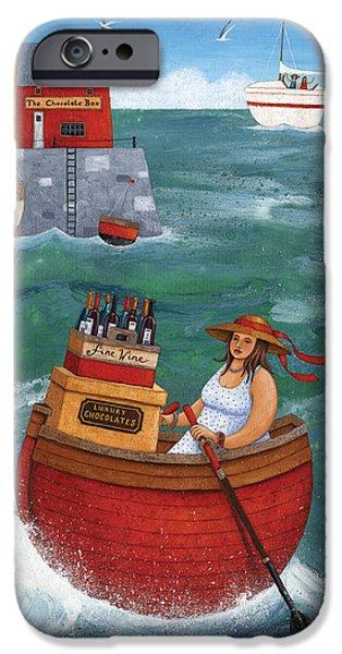 Wine Bottles iPhone Cases - Rowing In Luxury iPhone Case by Peter Adderley