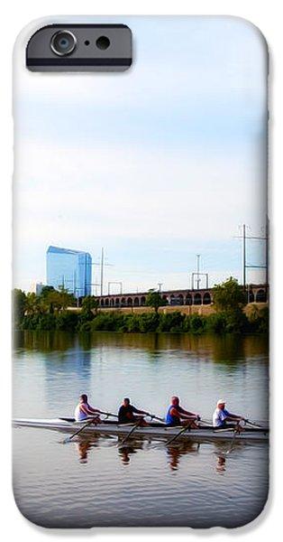 Rowing in Philadelphia iPhone Case by Bill Cannon