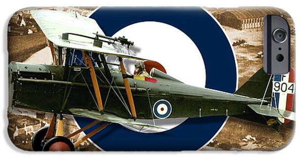 Ww1 iPhone Cases - Royal Aircraft Factory S.E.5 iPhone Case by Michael Colclough