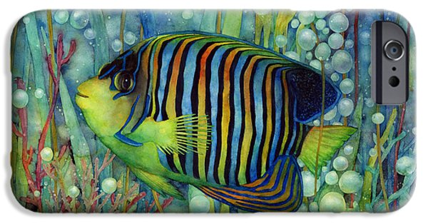 Stripes iPhone Cases - Royal Angelfish iPhone Case by Hailey E Herrera