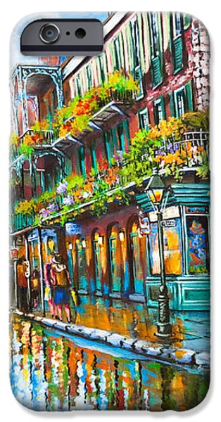 Royal at Pere Antoine Alley iPhone Case by Dianne Parks