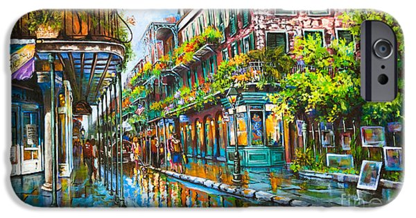 Royal Paintings iPhone Cases - Royal at Pere Antoine Alley iPhone Case by Dianne Parks