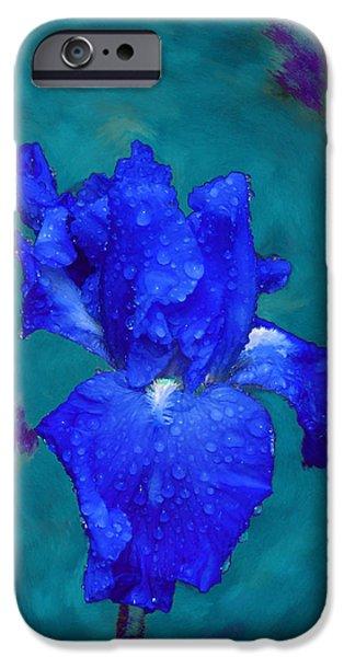 Royal Blue Iris iPhone Case by Viktor Savchenko
