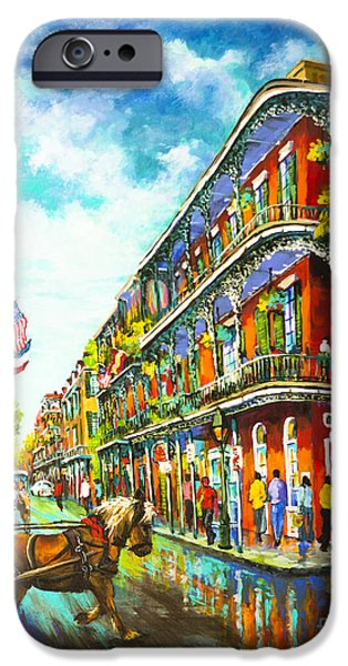 French Quarter Paintings iPhone Cases - Royal Carriage iPhone Case by Dianne Parks
