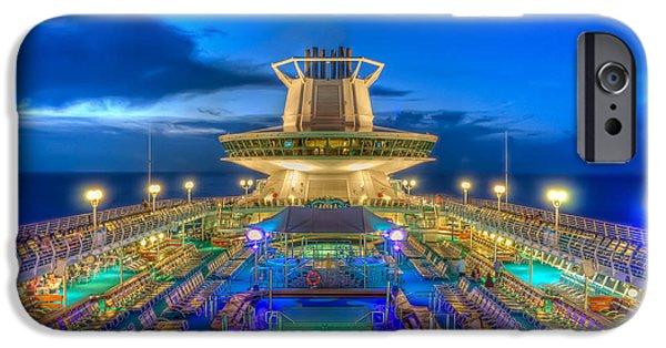 Michael Versprill iPhone Cases - Royal Carribean Cruise Ship  iPhone Case by Michael Ver Sprill
