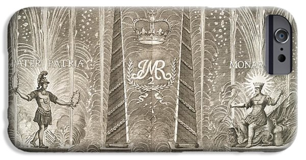King James iPhone Cases - Royal Coronation Fireworks, 17th Century iPhone Case by General Research Division