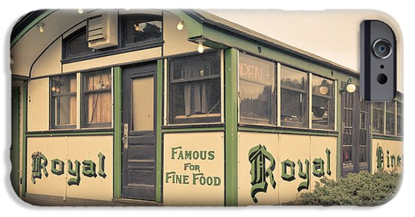 Diners iPhone Cases - Royal Diner Famous for Fine Food iPhone Case by Edward Fielding