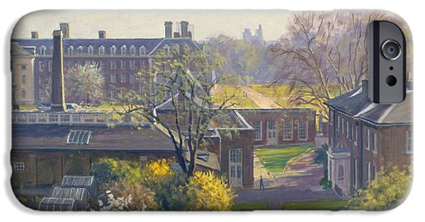 Chelsea iPhone Cases - Royal Hospital From 33 Tite Street Oil On Canvas iPhone Case by Julian Barrow