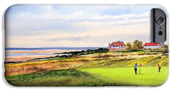 Recently Sold -  - The Tiger iPhone Cases - Royal Liverpool Golf Course Hoylake iPhone Case by Bill Holkham