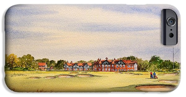 Professional Golf iPhone Cases - Royal Lytham and St Annes Golf Course iPhone Case by Bill Holkham
