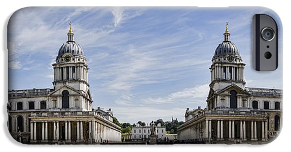 Painted Hall iPhone Cases - Royal Naval College Courtyard iPhone Case by Heather Applegate