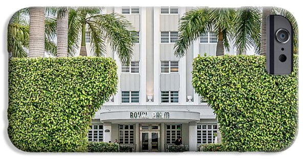 Ian Monk Photography iPhone Cases - Royal Palm Hotel on South Beach Miami - Square Crop iPhone Case by Ian Monk