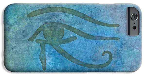 Horus iPhone Cases - Royal Power iPhone Case by Monica Margarida
