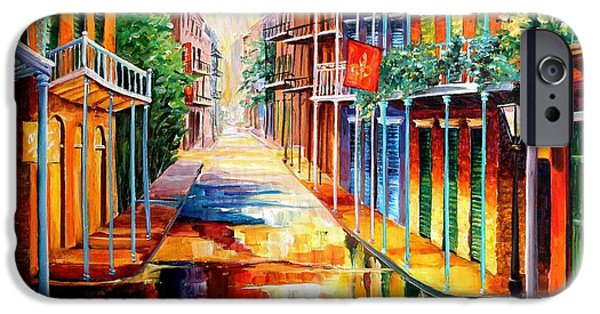 Balcony iPhone Cases - Royal Street Reflections iPhone Case by Diane Millsap