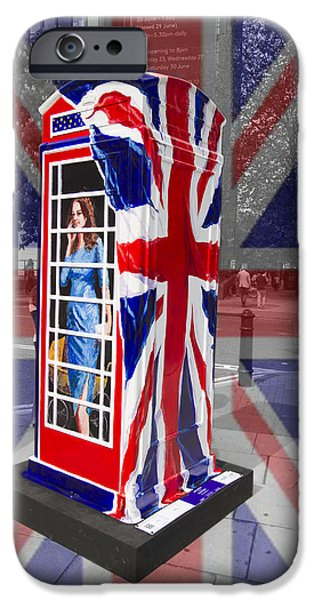Prince Harry iPhone Cases - Royal telephone box iPhone Case by David French
